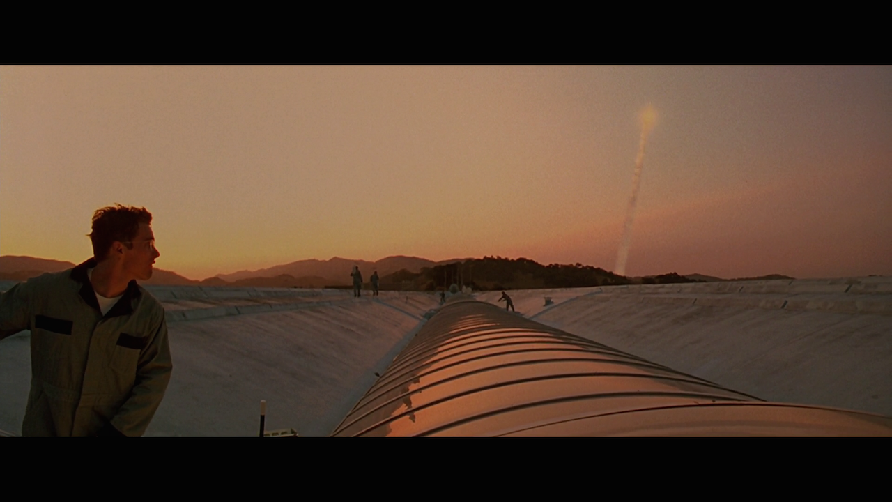 Rocket launch in Gattaca