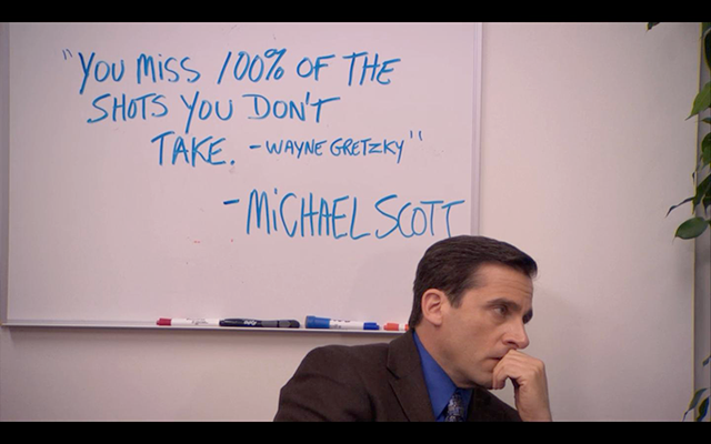 Wise Michael Scott quote